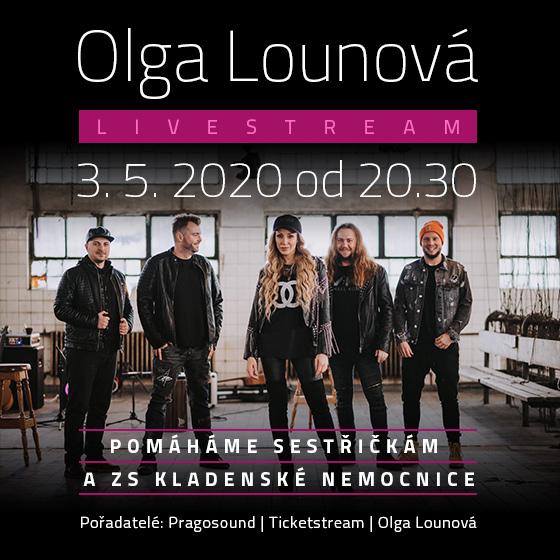 Olga Lounová<br>s hosty Raegem a Elis! on-line show<br>Livestream