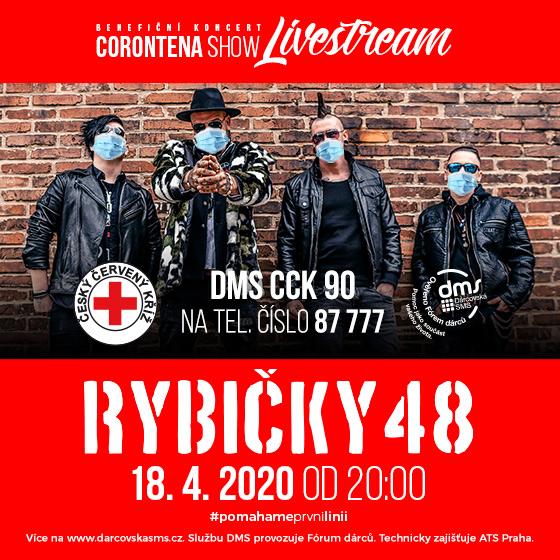 Rybičky 48<br>Corontena Show<br>Benefiční koncert - Livestream