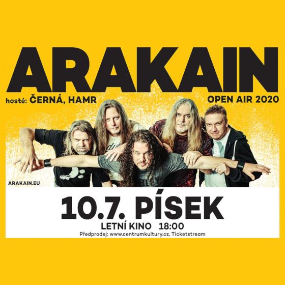Arakain Open air<br>Hosté: Černá a Hamr