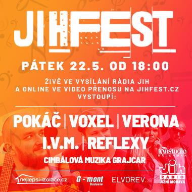 Jihfest Rádia Jih<br>první rádiový a online hudební festival na jižní Moravě