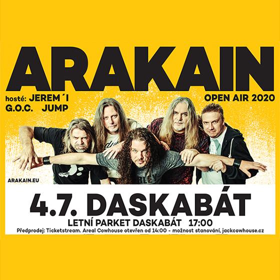 Arakain Open Air<br>Hosté: Jerem.I, G.O.C. a Jump