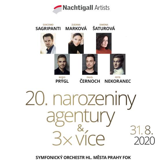 Nachtigall Artists´s Birthday concert<br>Zuzana Marková, Simona Šaturová, Pavel Černoch, Petr Nekoranec, Boris Prýgl, Giacomo Sagripanti - conductor
