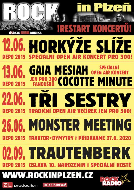 Gaia Mesiah<br>Cocotte Minute<br>Rock in Plzeň
