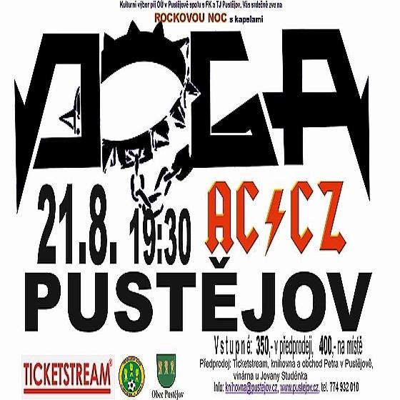 Rocková noc<br>koncert skupiny Doga<br>předkapela AC/CZ revival