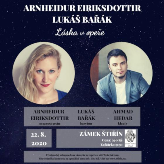 Letní setkání s operními hvězdami<br>Arnheidur Eiriksdottir,Lukáš Bařák<br>Láska v opeře