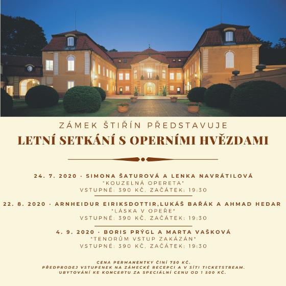 Letní setkání s operními hvězdami<br>PERMANENTKA