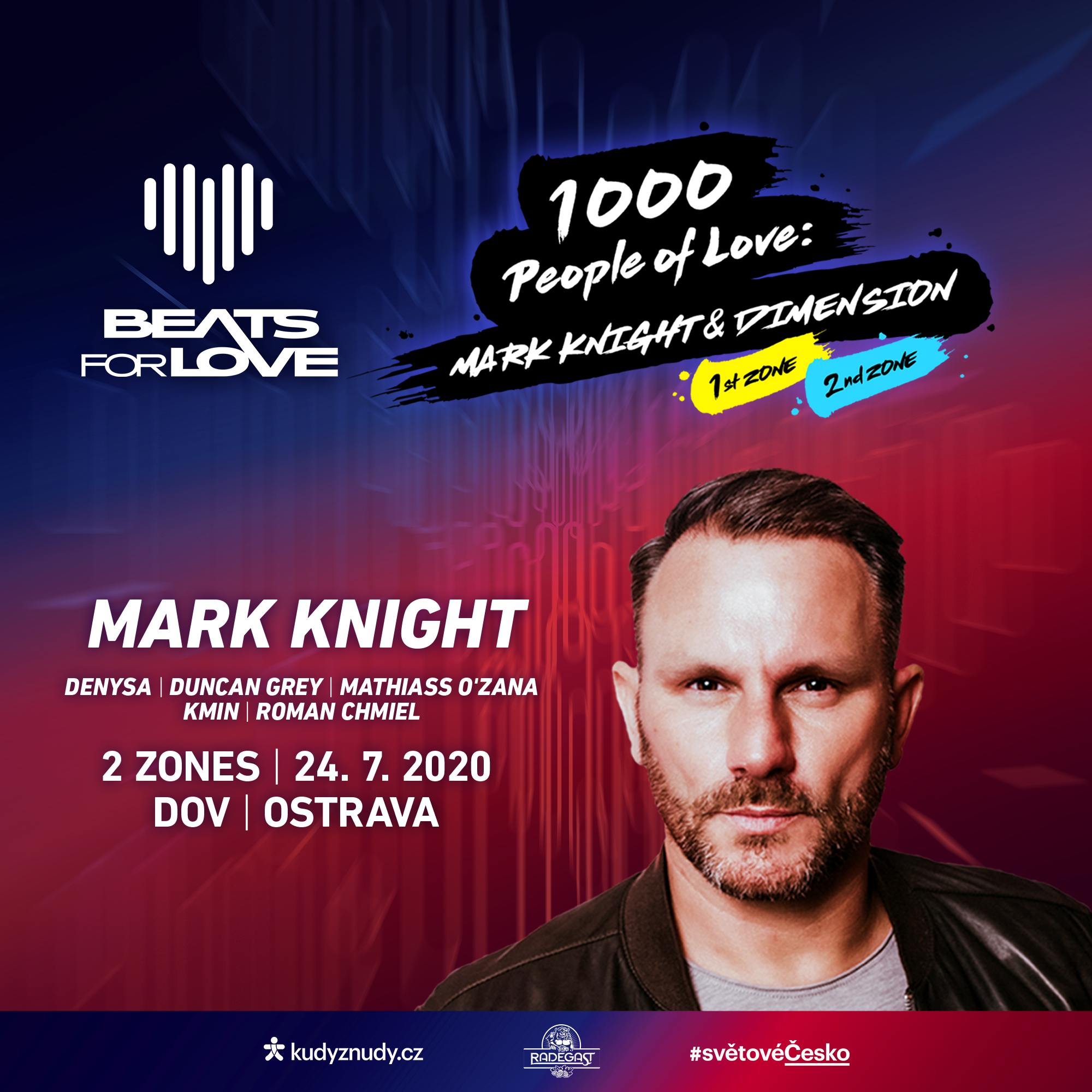 Beats for Love: 1000 People of Love 2 Zone<BR>House & Techno w/ Mark Knight