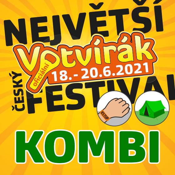 Festival Votvírák 2021<br>Největší hudební festival<br><b><font color=red>Klubová karta Kombi</font></b>