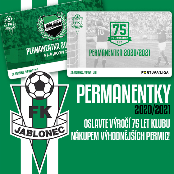 FK Jablonec<br>Permanentka I. liga<br>Season 2020/2021