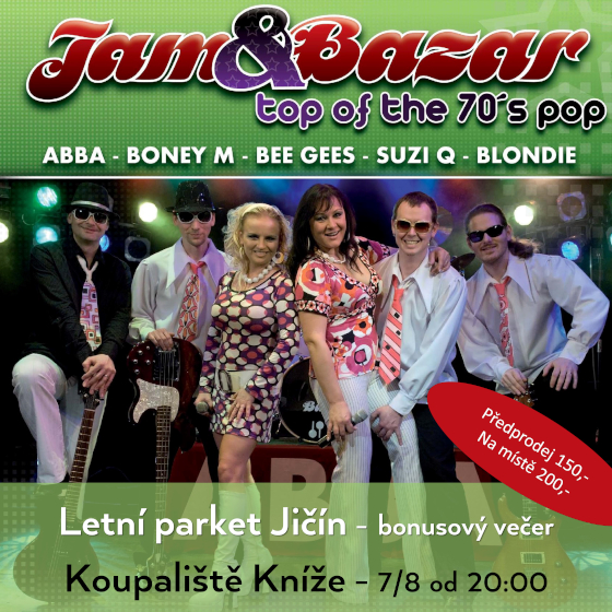 Jam&Bazar - top of the 70s pop<br>Letní parket Jičín