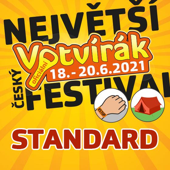Festival Votvírák<br>Nejv&#283;tší hudební festival<br><b><font color=red>Klubová karta standard</font></b>