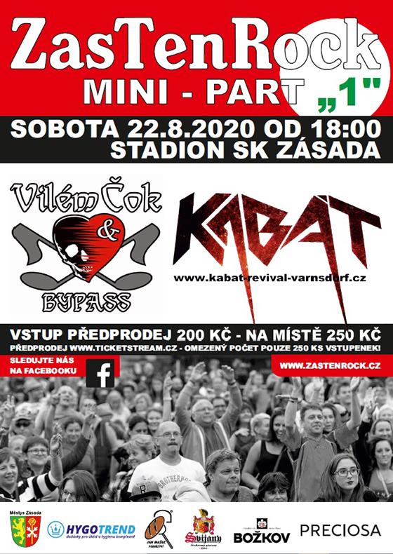 Mini ZasTenRock v Zásadě<br>Vilém Čok & Bypass, Kabát revival Varnsdorf