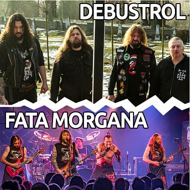DEBUSTROL a FATA MORGANA- koncert v Plzni -KD Šeříková Plzeň
