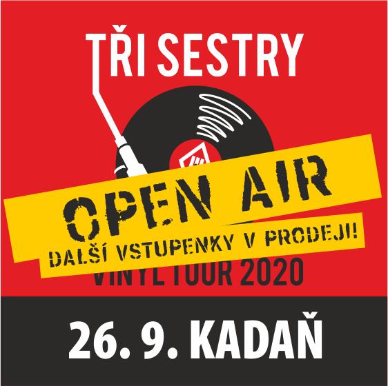 Tři sestry - Open-Air<br>Vinyl tour 2020<br>host Synové Výčepu