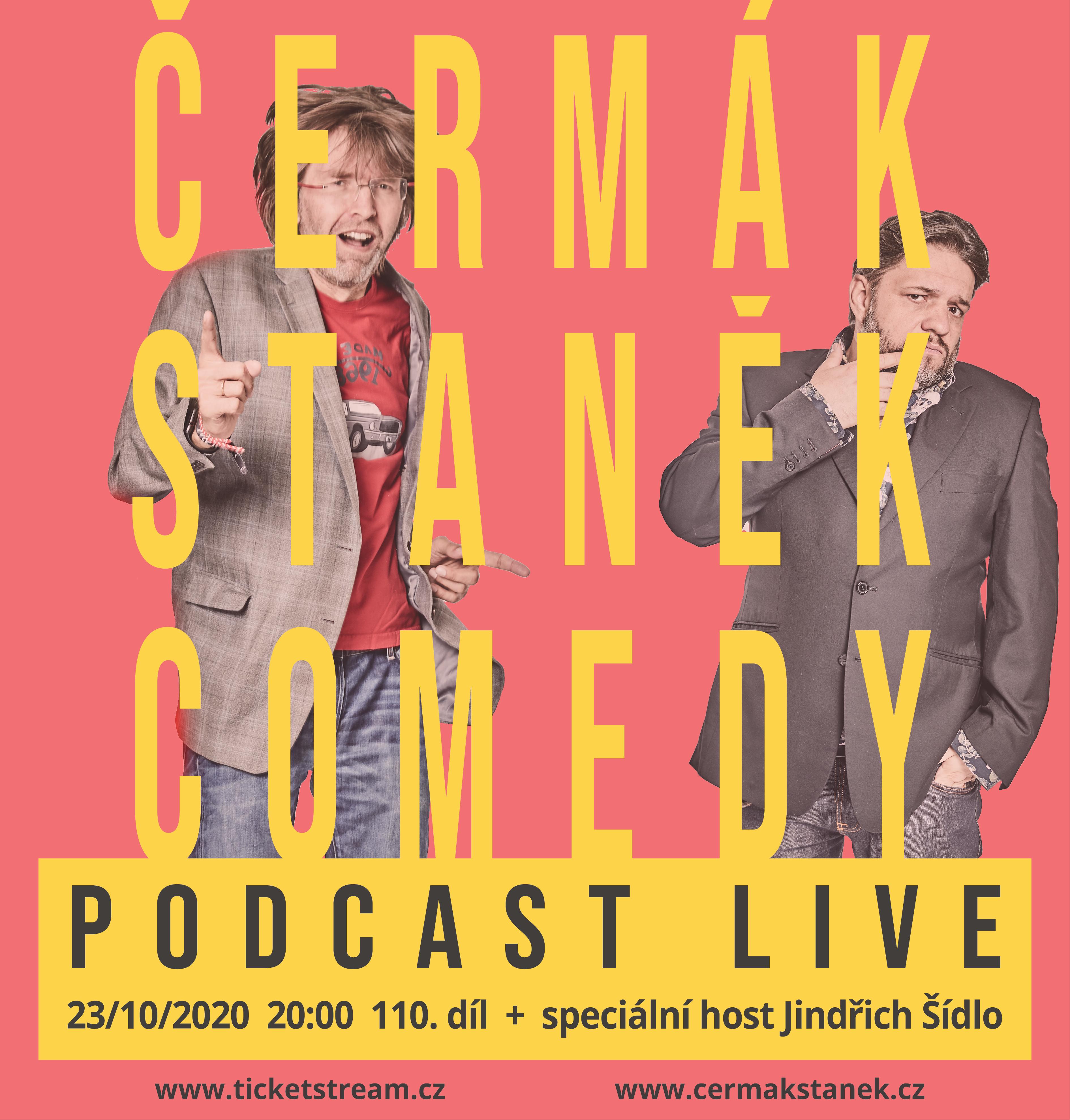Čermák Staněk Comedy Podcast<br>110 díl živě online