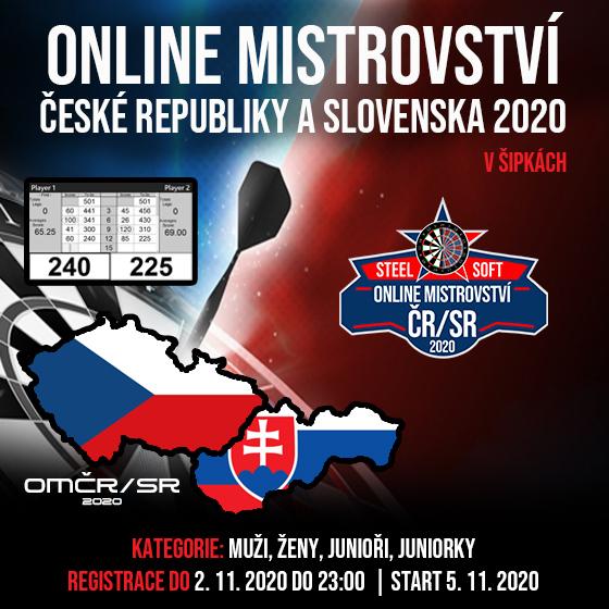 Online Mistrovství České republiky a Slovenska 2020 v šipkách