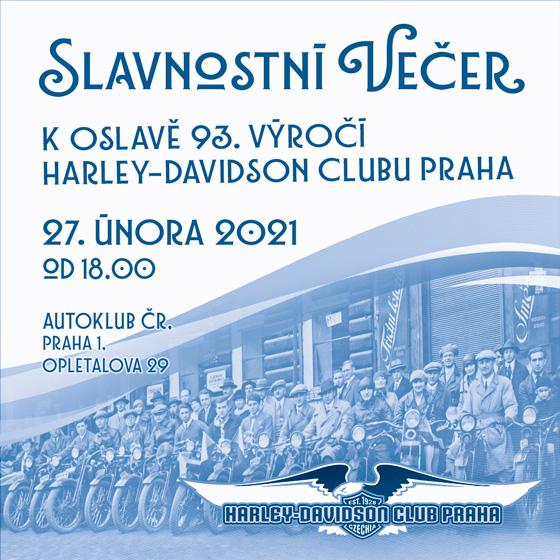 SLAVNOSTNÍ VEČER/HARLEY-DAVIDSON CLUBU PRAHA/- Praha -Autoklub ČR Praha