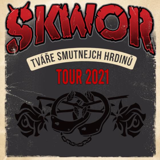 ŠKWOR/TVÁŘE SMUTNEJCH HRDINŮ TOUR/- koncert v Brně -Areál Anthropos Brno