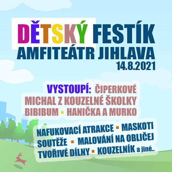 Dětský Festík Jihlava<br>Veselý festival pro děti a rodiče