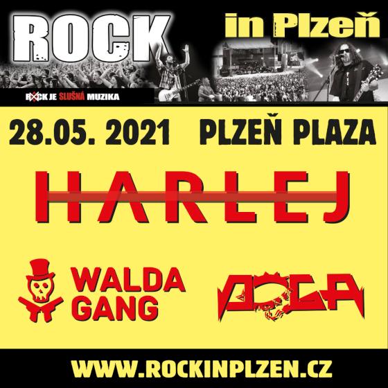 ROCK in Plzeň<br>Harlej + Doga + Walda Gang