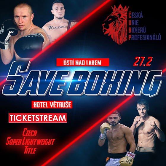 Save Boxing<br>Živý přenos mezinárodní sportovní akce