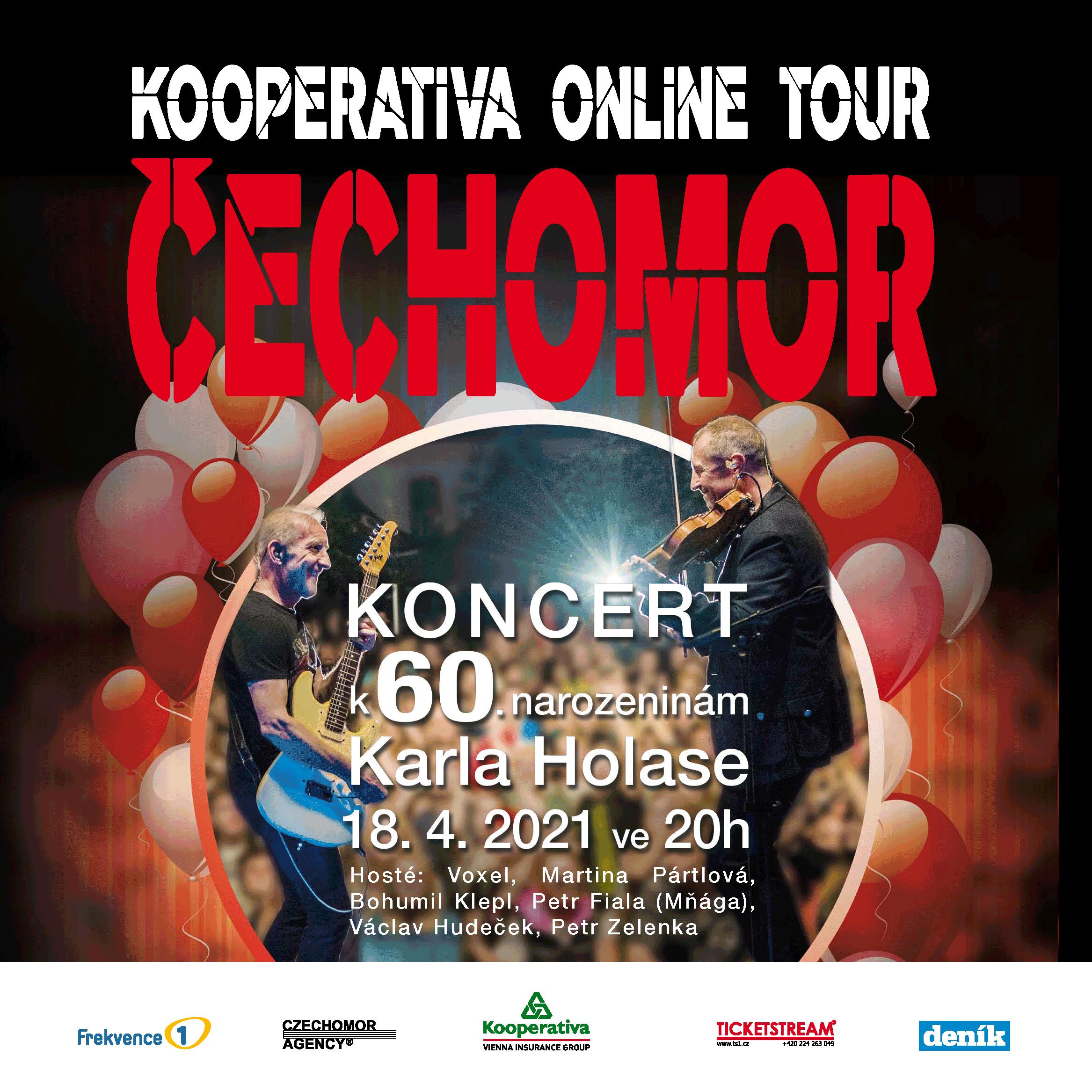 ČECHOMOR/KOOPERATIVA ONLINE TOUR/ -Livestream ČR