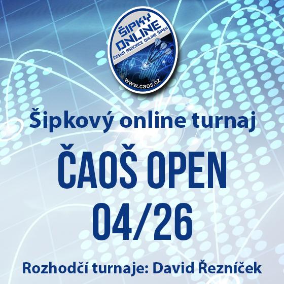 Šipkový turnaj - OPEN ČAOŠ 04/26