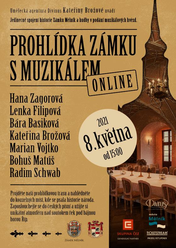 Prohlídka zámku Mělník s muzikálem