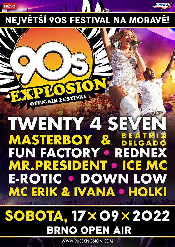 90s Explosion open-air festival Brno 2022