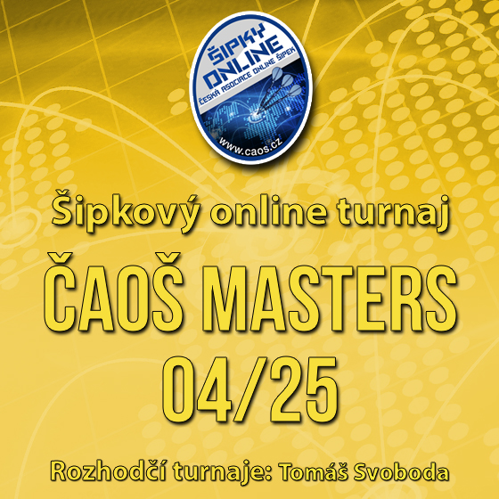 Šipkový turnaj - ČAOŠ MASTERS 04/25