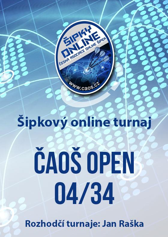 Šipkový turnaj - OPEN ČAOŠ 04/34