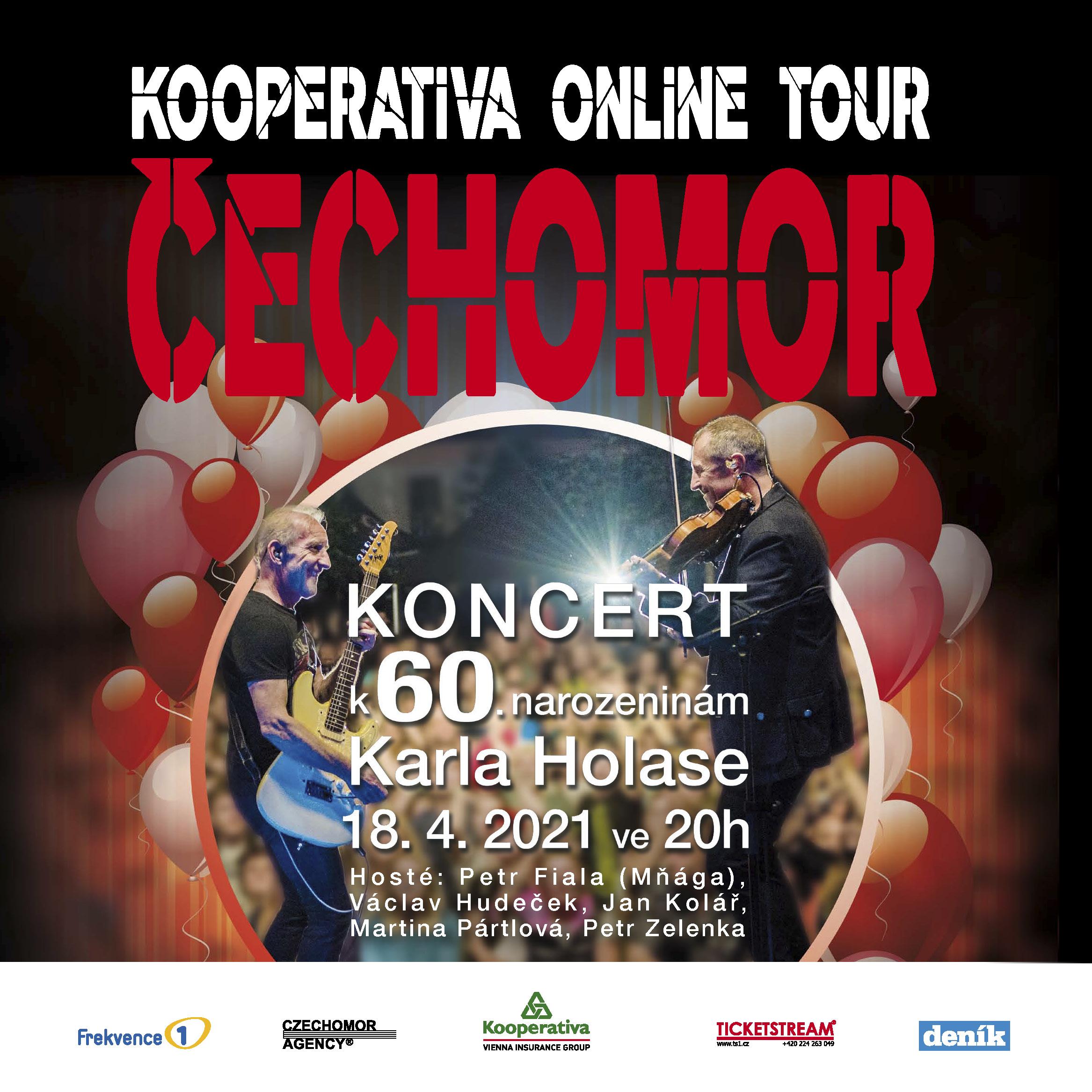 Čechomor<br>Koncert k 60. narozeninám Karla Holase<br>v rámci Kooperativa Online Tour