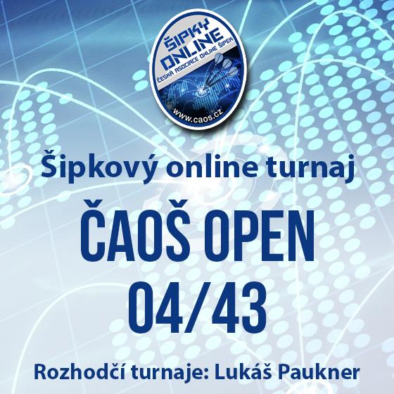 Šipkový turnaj - OPEN ČAOŠ 04/43