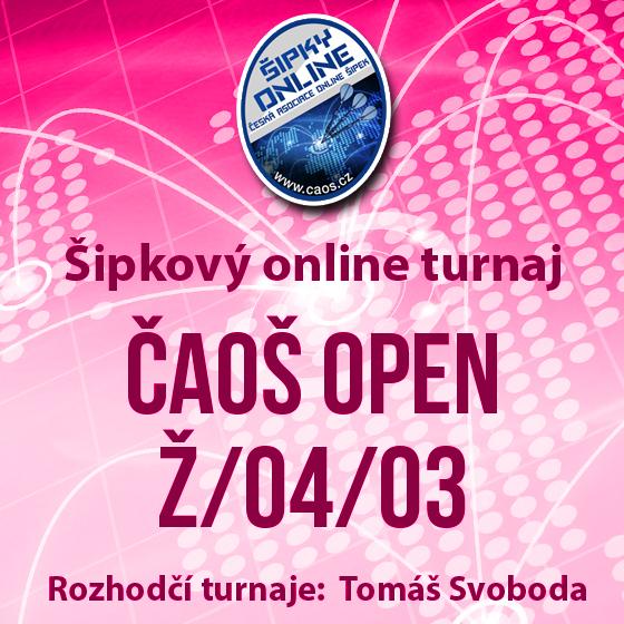 Šipkový turnaj - OPEN ČAOŠ Ž/04/03<br>Ženy