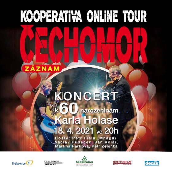 ČECHOMOR- KOOPERATIVA ONLINE TOUR- live koncert -Livestream ČR