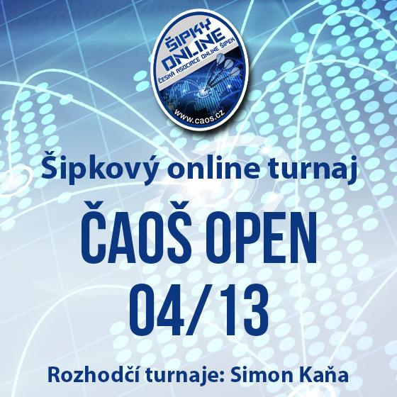 Šipkový turnaj - OPEN ČAOŠ 04/13