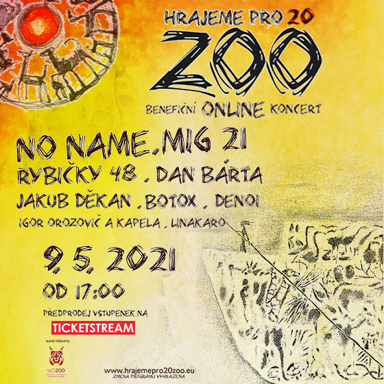 Hrajeme pro 20 Zoo/Online benefiční koncert/ -Livestream ČR