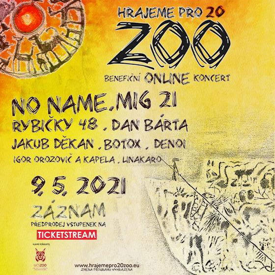 Hrajeme pro 20 Zoo<br>Online benefiční koncert<br>Záznam