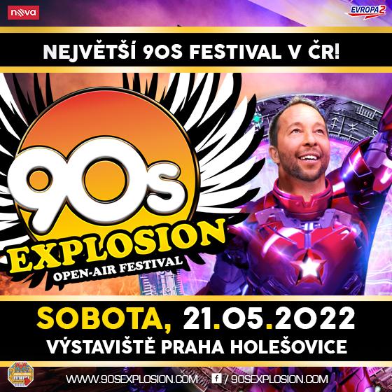 90s Explosion open-air festival Prague 2022<br>Dj BoBo, Technotronic, La Bouche, Twenty 4 Seven a more...