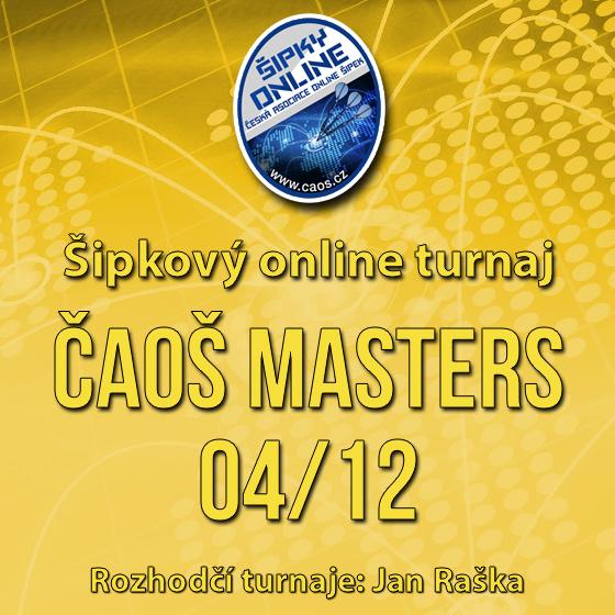 Šipkový turnaj - ČAOŠ MASTERS 04/12