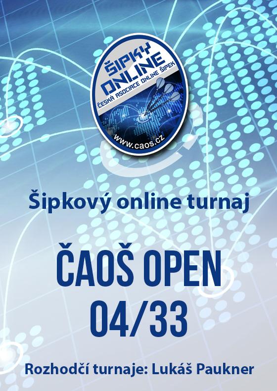 Šipkový turnaj - OPEN ČAOŠ 04/33