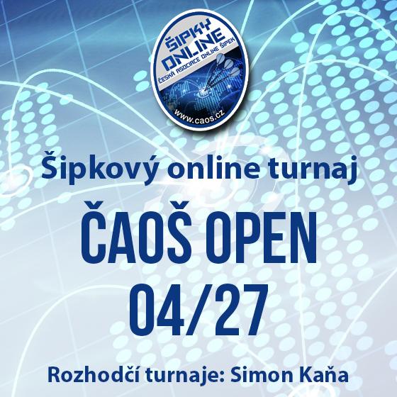 Šipkový turnaj - OPEN ČAOŠ 04/27