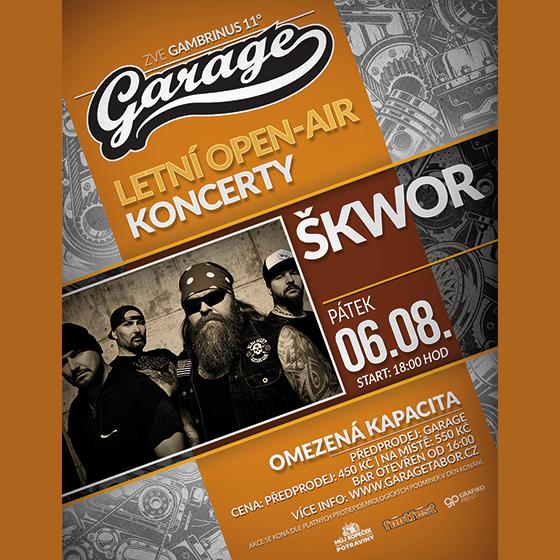 ŠKWOR- koncert Tábor -Areál Garage Tábor