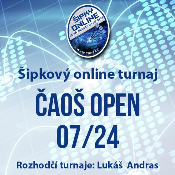Šipkový turnaj - OPEN ČAOŠ 07/24