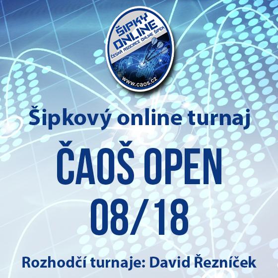 Šipkový turnaj - ČAOŠ OPEN 08/18