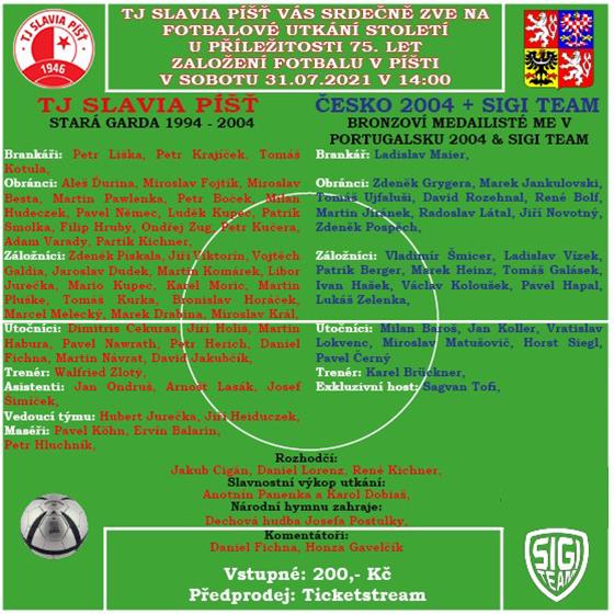Zápas legend EURO Česko 2004<br>SIGI team - TJ Slavia Píšť