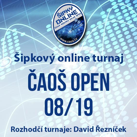 Šipkový turnaj - ČAOŠ OPEN 08/19
