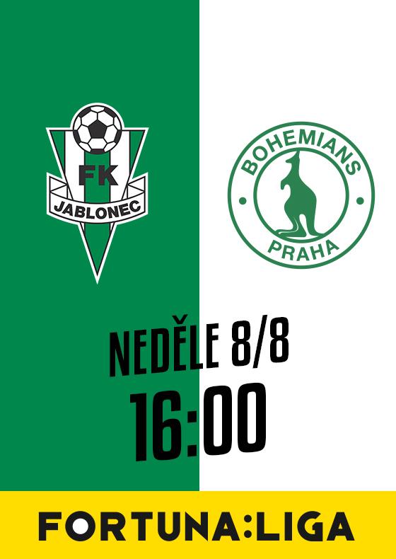 FK Jablonec vs. BOHEMIANS PRAHA 1905<br>SEZÓNA 2021/2022<br>Fortuna:Liga
