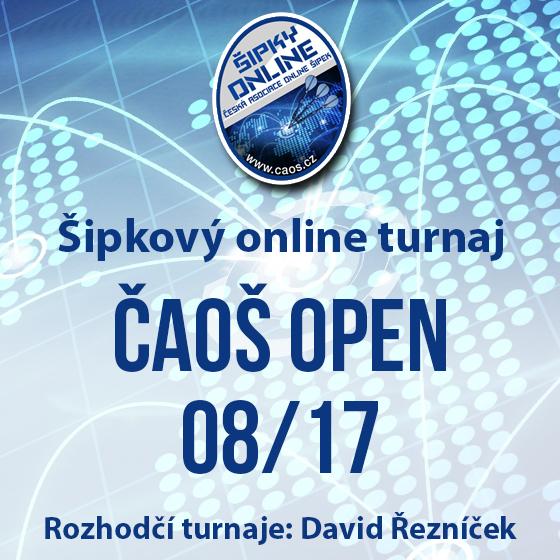 Šipkový turnaj - ČAOŠ OPEN 08/17