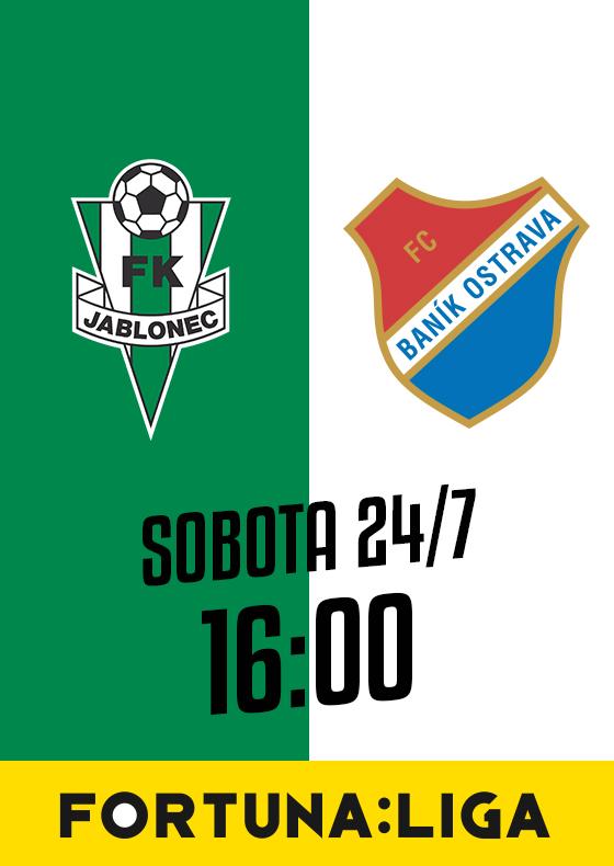 FK Jablonec vs. FC Baník Ostrava<br>SEZÓNA 2021/2022<br>Fortuna:Liga